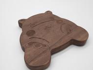实木激光雕刻杯垫