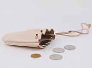 原创手工制作植鞣皮 半圆锦囊零钱包 硬币包 复古小包