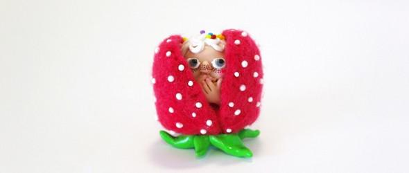 躲在草莓里