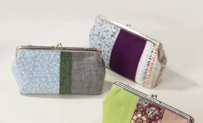 漫与手工:早春系列 原创原创拼布口金包包 斜挎包手包布包