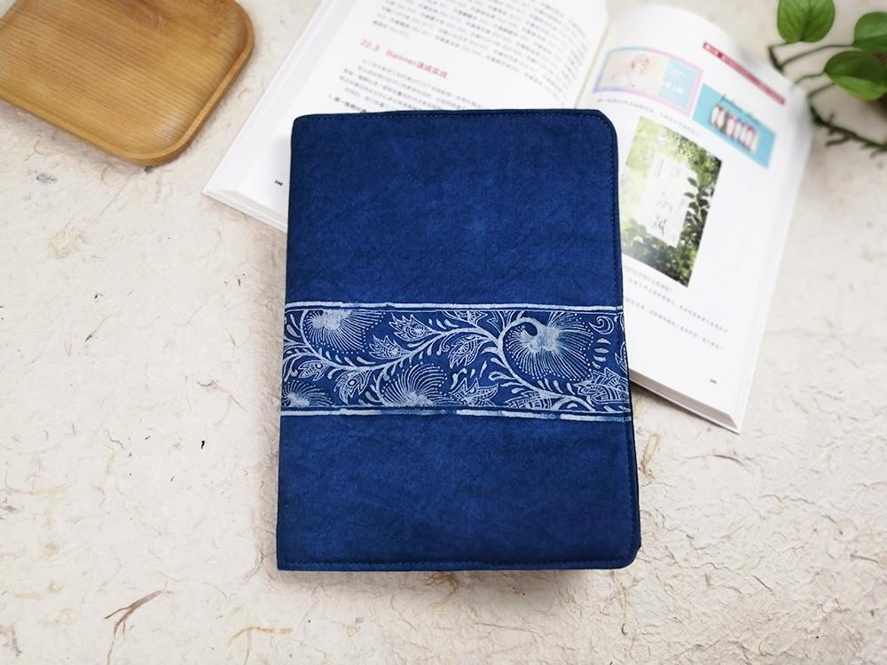 蓝染系列教程 | 05期:蜡染布艺书套,给爱书之人最好的礼物