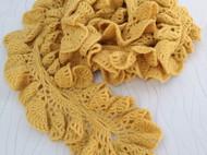 韩版簇拥的花朵纯手工围巾