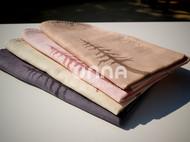 unna酝罗_小鹿与树_天然植物染 纯棉方巾 草木染 手帕 围巾 宝贝口水巾 46*46