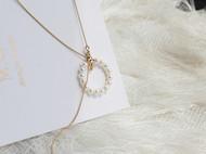M.Q奎妮小姐 天然珍珠圈圈项链
