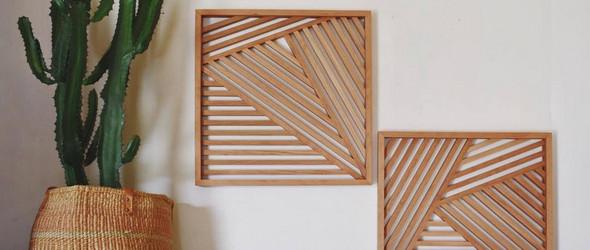 Anna Gregory | 木条拼接的几何装饰物