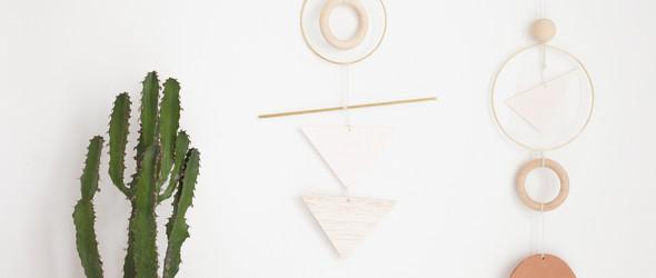 DIY几何形状的墙饰