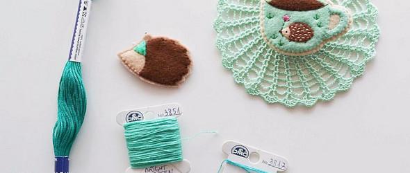 Alina Bunaciu  | 永远长大不的女生与带着幻想与甜蜜的羊毛毡刺绣胸针