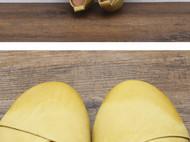 手工女鞋 赠手工鞋垫擦色气质套脚软底单鞋