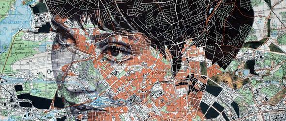 废弃地图里隐藏着的人物肖像 @edfairburn