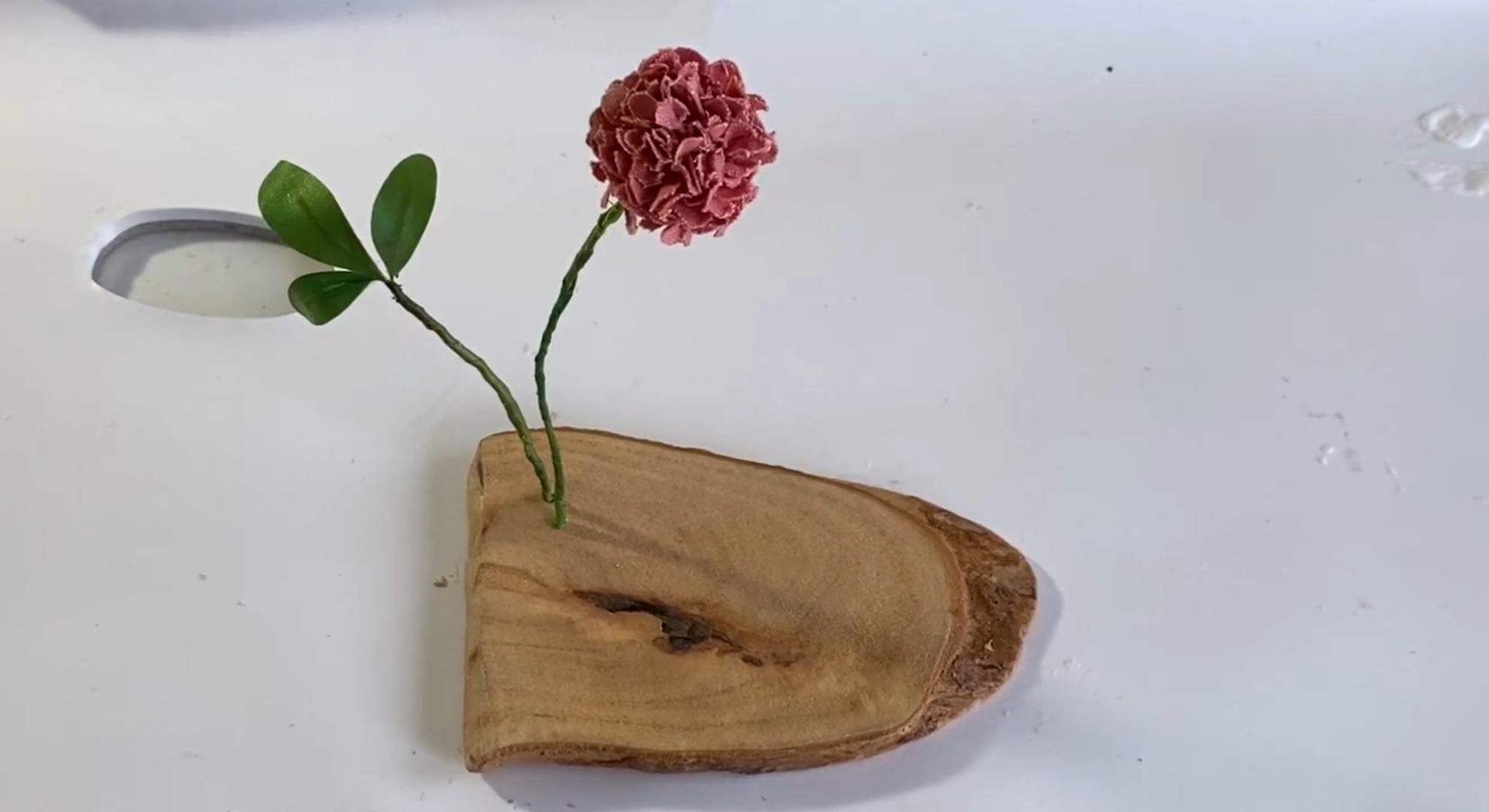 搬运转载一个简单的棉布绣球花制作视频