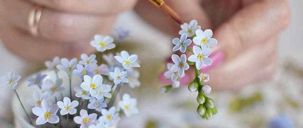 比真花更美的粘土面包花 | Julia Oleynik