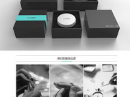 集兰 单纯系列原创设计925银饰品戒指个性指环首饰蓝色戒指