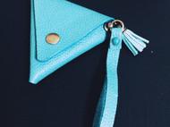 蒂芙尼蓝三角零钱袋