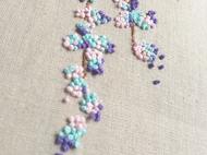 紫藤花刺绣