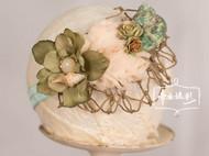 欧美海螺翠绿头饰