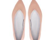裸粉色缎纹手工吸烟鞋