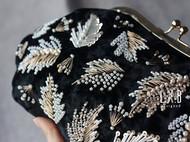 【LXB私人设计】重工法式钉珠 刺绣 口金包