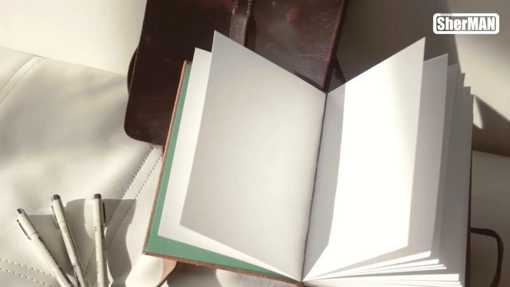超详细的皮革封面线装手工本(素描本)DIY手工制作教程