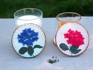 手工杯垫【玫红绣球】,看看花,喝喝茶吧~