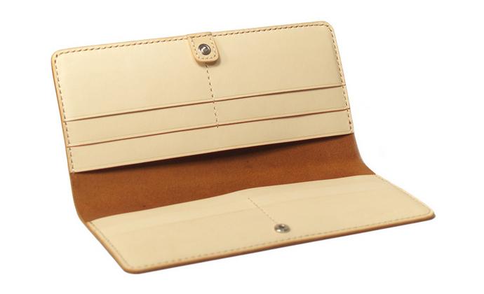 棕色简约版8卡位钱包