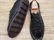 手工男鞋 真皮民族裁缝系带休闲鞋