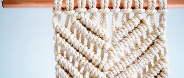 【Macrame】挂毯编织入门进阶之——平结(Square Knot)