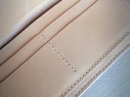 手工缝制长钱包 长夹 手染樱花粉