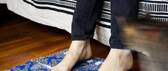 DIY毛线床边脚垫