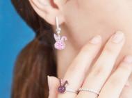 CAMBAS刊芭思 莓红兔子戒指 ins风925纯银女精致设计感轻奢指环