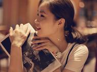 MQ奎妮小姐 孤单星球/14k包金小圈圈天然珍珠耳坠