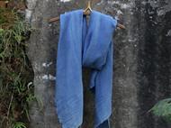 南山草木染原创自制男女士进口真丝羊毛面料纯色秋冬长款围巾