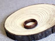 黄花梨手工打磨木头戒指 传统圆戒
