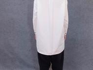 """白色纯棉工装长袖绣字女衬衫""""垚""""-[荒腔]独立设计师品牌"""