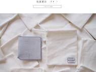 5000TIMES'手工皮具-片叶系列 钱包 卡包 意大利植鞣牛皮 薄荷蓝