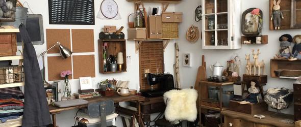 手工艺人 & 独立设计师Erika Barratt:工作室和手工布艺玩偶