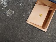 【白馬手造】手工 皮具 双钞位 /硬币包 短夹 手染黑色款