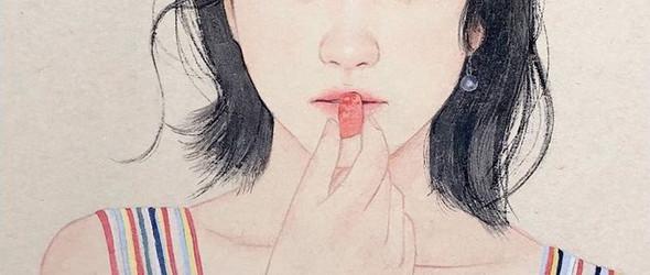 韩国风绘画   @seuksak_art