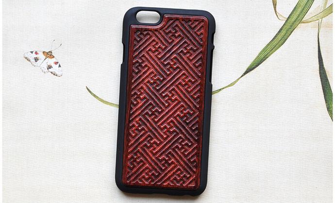 红木手机壳iphone6/6s/plus个性创意大工小匠原创设计万事如意