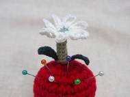 【可爱的花儿】原创纯手工毛线针插小摆件 可爱 小清新
