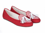 暗红衬衫缎带鞋