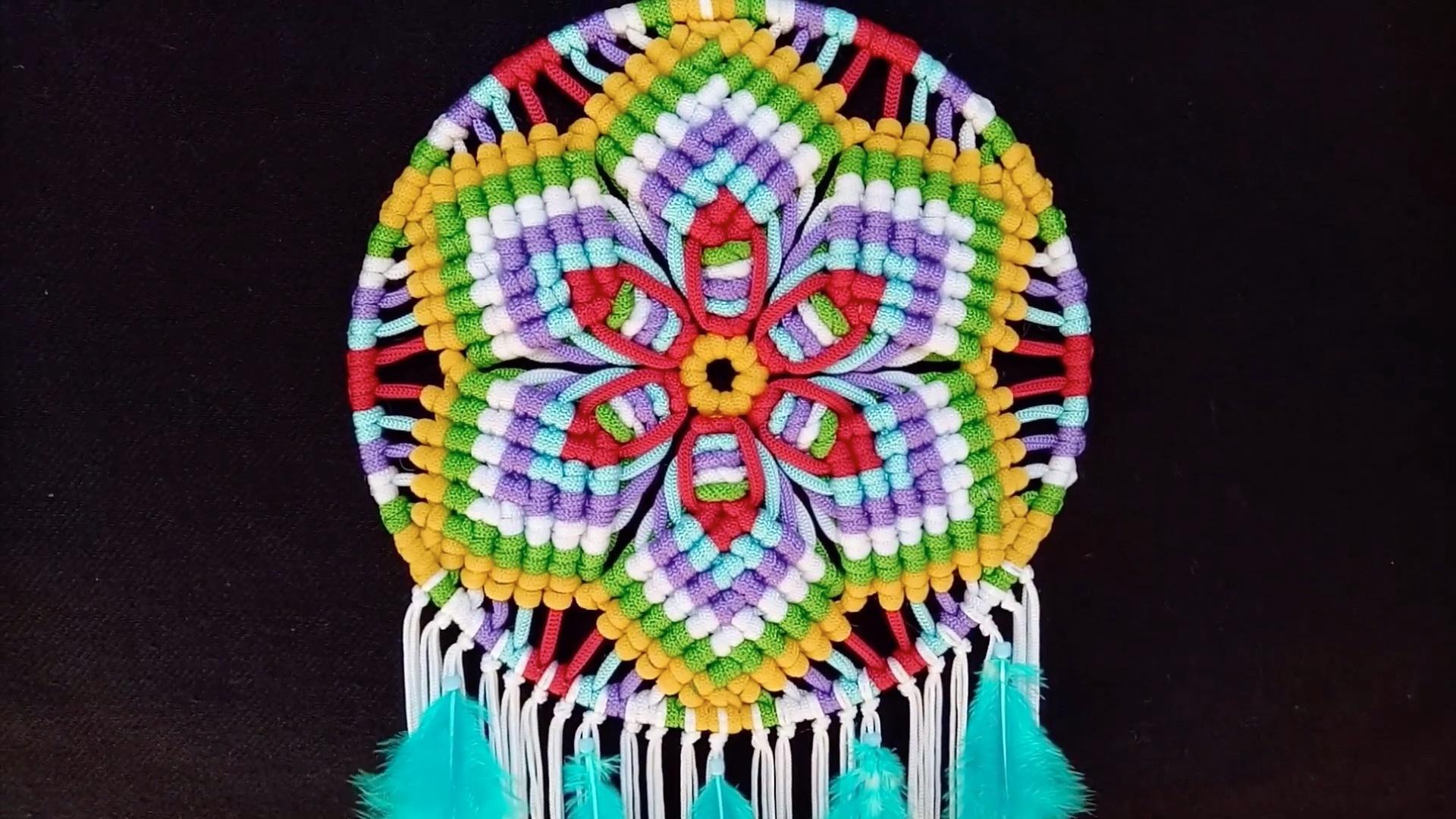 手工绳编曼陀罗挂饰 / DIY Mandala Macrame Tutorial