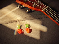 【童趣胡萝卜】楠楠小张漫生活原创礼物手工自制耳线进口耳坠耳饰