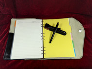 骄阳手工定制笔记本、签字笔套商务套装纯手工制作意大利进口牛皮