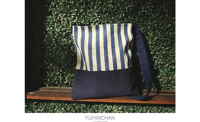 Yuhin Chan YN原创 斜背 环保帆布袋百搭包帆布包购物袋
