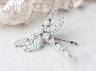 【LXB私人设计】重工钉珠蜻蜓胸针,现货