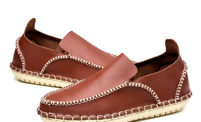 100% 纯手工鞋  无胶真皮鞋 休闲鞋 防臭 环保鞋