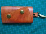 手工皮具植鞣革钥匙包