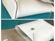手工植鞣革斜跨包