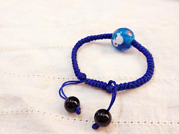 原创作品 多图 日式琉璃珠 转运琉璃手链 可爱小白兔蓝色琉璃珠款 手工编织 手工客,手工与设计分享社区