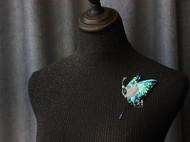 【LXB私人设计】法式刺绣蝴蝶胸针